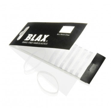 BLAX Snag Free Hair Elastics - 4mm Clear - 8 Pack