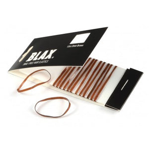 BLAX Snag Free Hair Elastics - 2mm Brown - 12 Pack