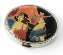 "Speert Silver ""Classic Ladies"" Compact 2-Sided Mirror"