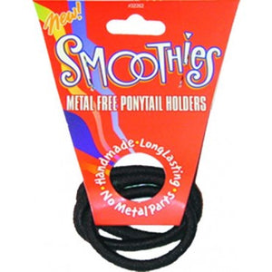 Smoothies Metal Free PonyTail Holders -3 Pack Brown