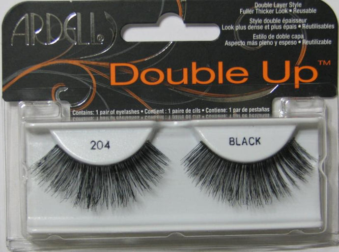 Ardell Double Up 204 Black Lashes package (for dozen)