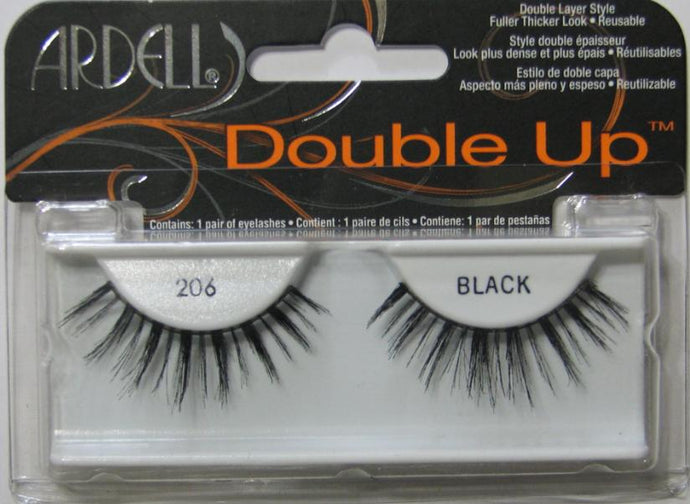 Dozen Ardell Double Up 206 Black Lashes