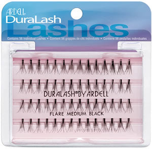 Dozen Ardell Flare Medium Black Individual Lashes