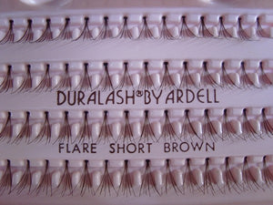 Dozen Ardell Flare Short Brown Individual Lashes