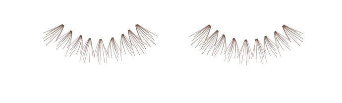Dozen Ardell Knot Free Flare Medium Individual Lashes, Brown