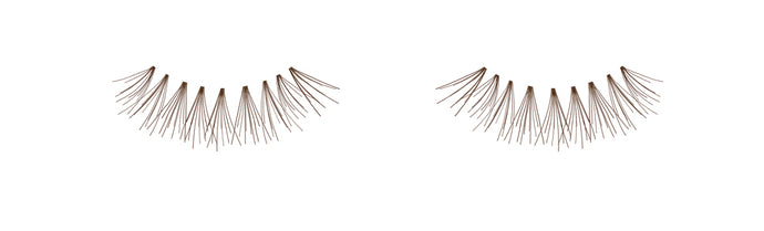 Dozen Ardell Knot Free Flare Short Individual Lashes, Brown