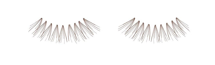 Dozen Ardell Knot Free Flare Long Individual Lashes, Brown