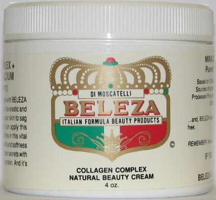 Beleza Collagen Complex Natural Beauty Cream (4 oz.)
