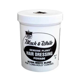 Black & White Genuine Pluko Hair Dressing Pomade 7oz