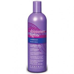 Clairol Shimmer Lights Conditioner for Blonde and Silver Hair 16oz