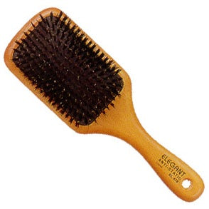 ELEGANT BRUSH #473 ANTI-STATIC BOAR PADDLE BRUSH