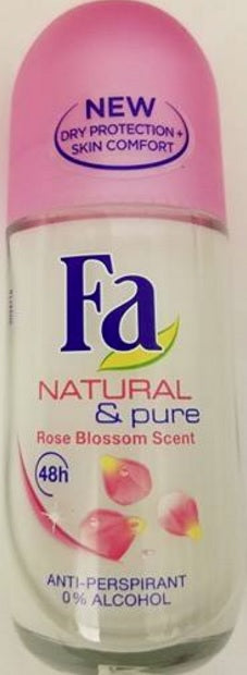 Fa Roll On Deodorant 1.7oz – Rose Blossom Scent