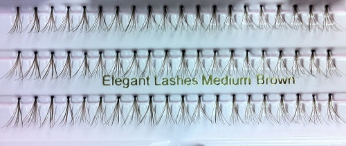 Dozen Medium Brown Flare Generic Lashes