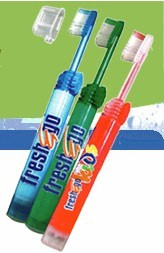 Fresh & Go Toothpaste and Toothbrush all in one!
