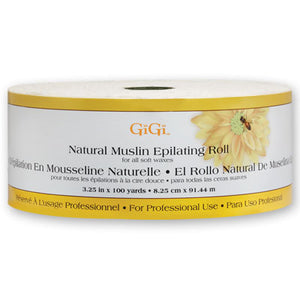 "GiGi 100 Yd Natural Muslin Epilating Roll - 3.25"" x 100 Yd"