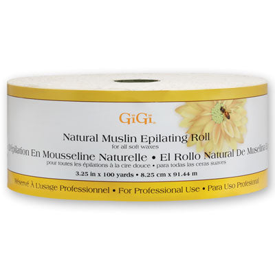 GiGi 100 Yd Natural Muslin Epilating Roll - 3.25