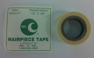 "Clear Hairpiece Tape 1/2"" x 108"" by Mr. ""C"""