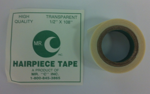 Clear Hairpiece Tape 1/2