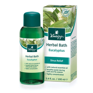 Kneipp Eucalyptus Cold & Flu Herbal Bath Oil 6.7oz Bonus Size