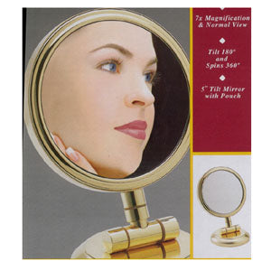 Rucci M792 7x / 1x Gold Finish Tilt / Swivel Mirror
