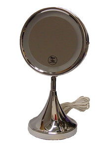 Rucci M822 10x / 1x Lighted Chrome Stand Mirror
