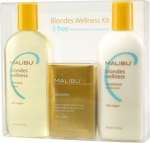 Malibu C Blondes Wellness Kit (Shampoo and Conditioner + 4 pack Treatment)