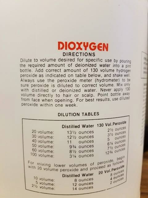 Ms Kay Dioxygen Liquid Developer - 40 Volume Liquid Developer Gallon (128 oz.)  NOT ELIGIBLE FOR FREE SHIPPING