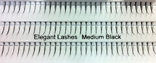 Dozen  Single Medium Black Generic Lashes