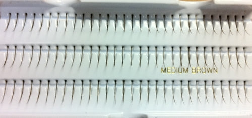 Dozen Single Medium Brown Generic Lashes