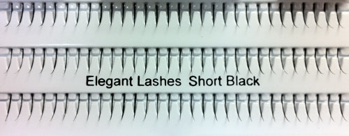 Dozen Single Short Black Generic Lashes