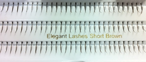 Dozen Single Short Brown Generic Lashes