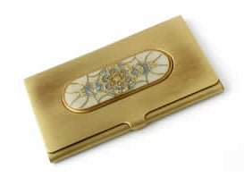 Speert Antique Brass Busniess Card Holder