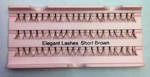 Short Brown Super Flare Generic Lashes