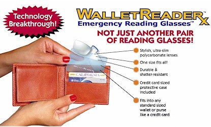 Wallet Reader Rx Emergency Reading Glasses