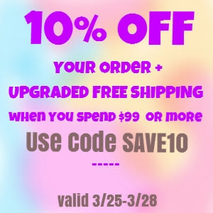 10% OFF your order! use code SAVE10