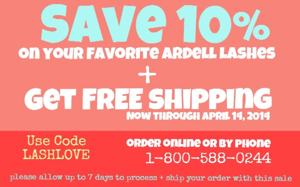 Save 10% on Ardell Lashes!
