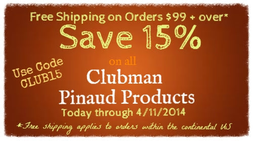 Clubman Pinaud Products 15% OFF