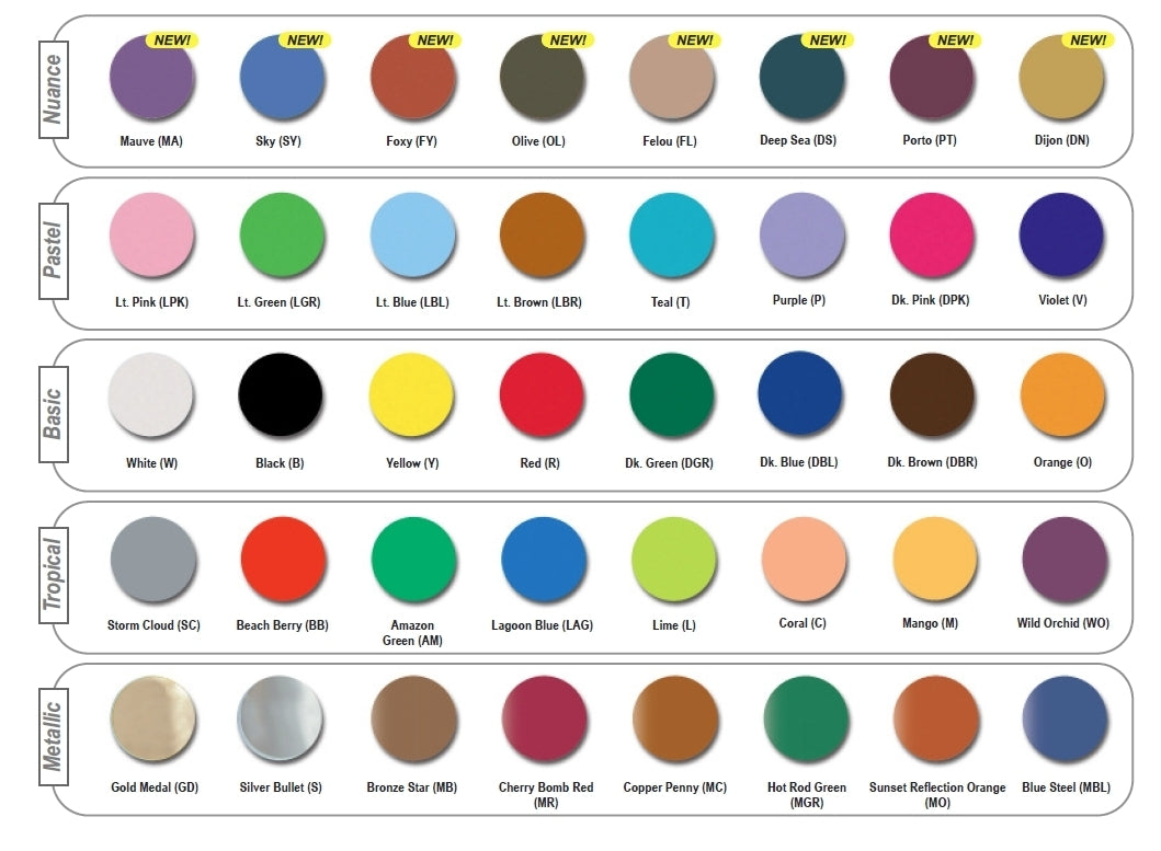 Mehron Paradise Makeup Color Chart