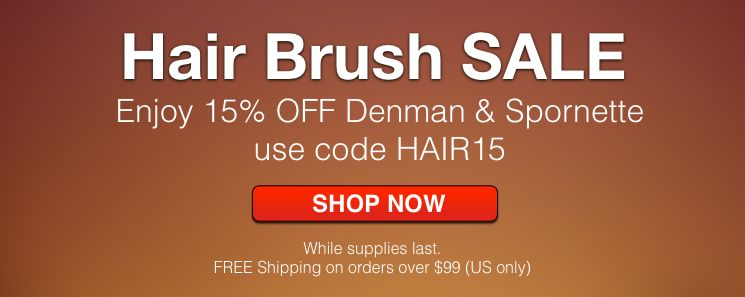 15% OFF Denman and Spornette Brushes