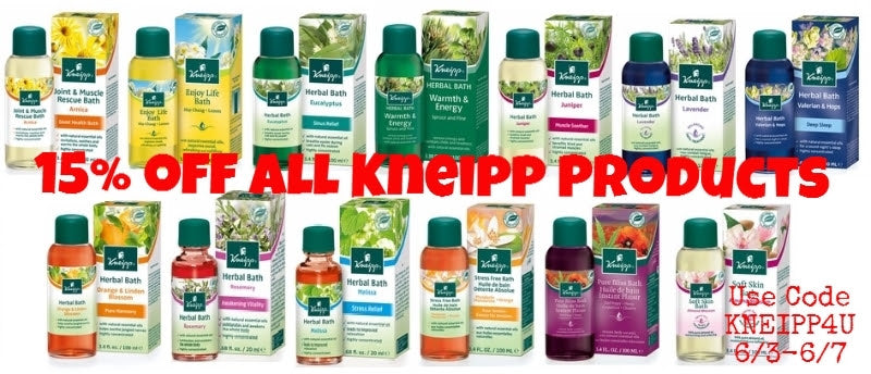15% OFF ALL Kneipp Products