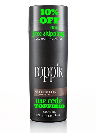10% off +FREE shipping on all Toppik products