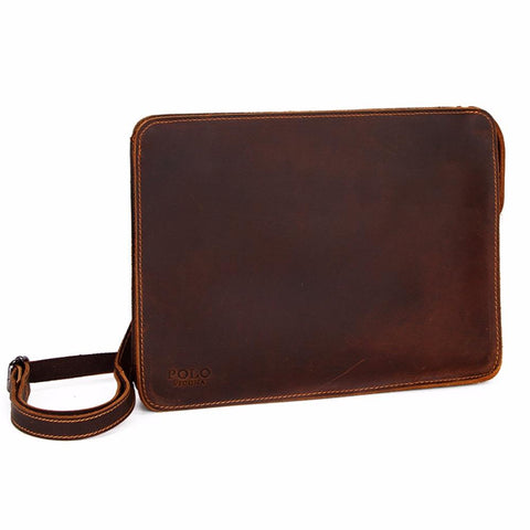 Large Size Leather Envelope, Clutch, Wallet For Men. - bagsstore-us