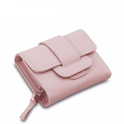 Luxury Soft Leather Women's Hasp Wallet - bagsstore-us