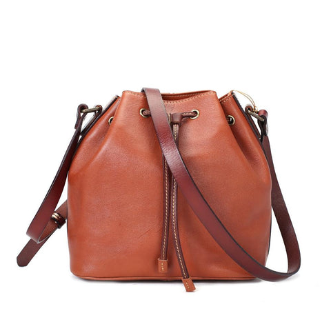 Bucket Cross body bag Leather Shoulder Sling Bag For Women - bagsstore-us
