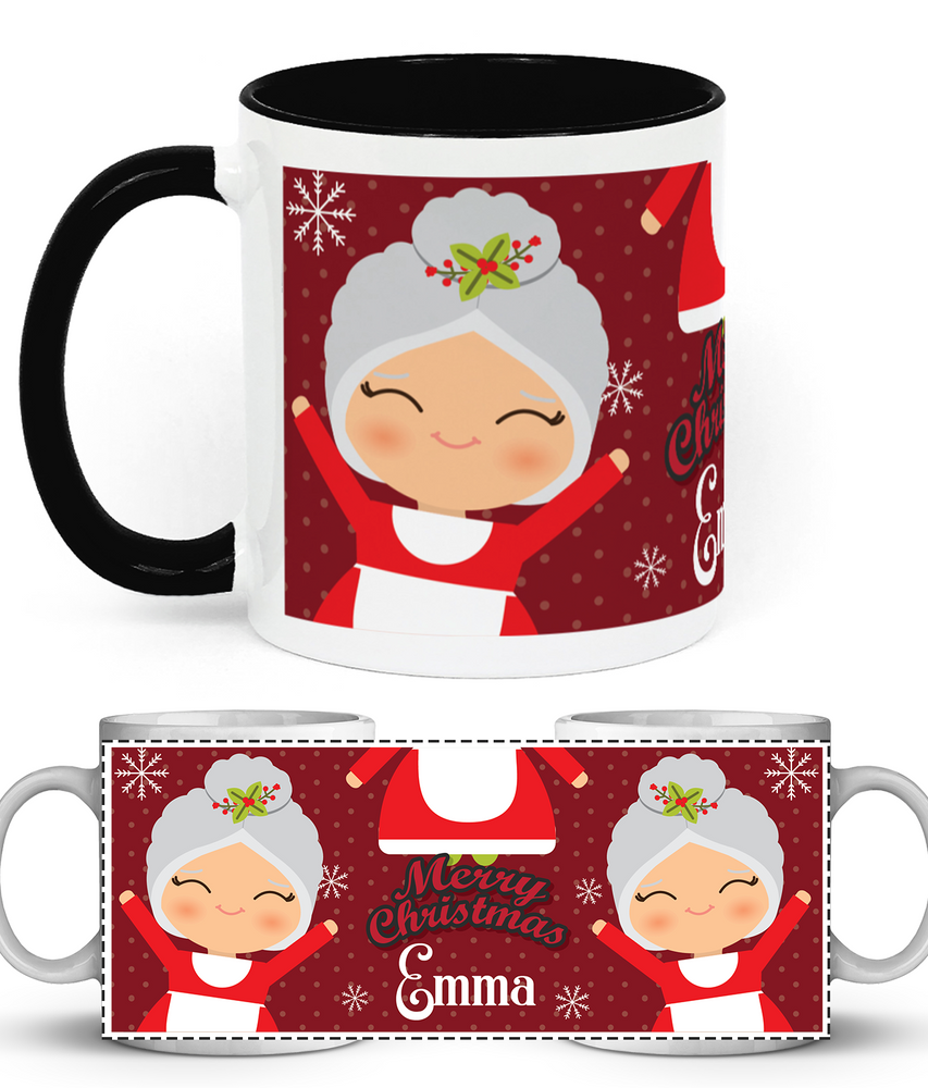Christmas Mugs.Personalised Christmas Mugs Two Toned Ceramic Mug