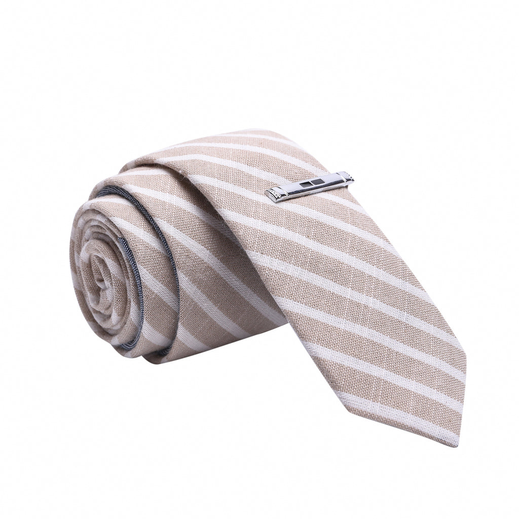 striped skinny tie
