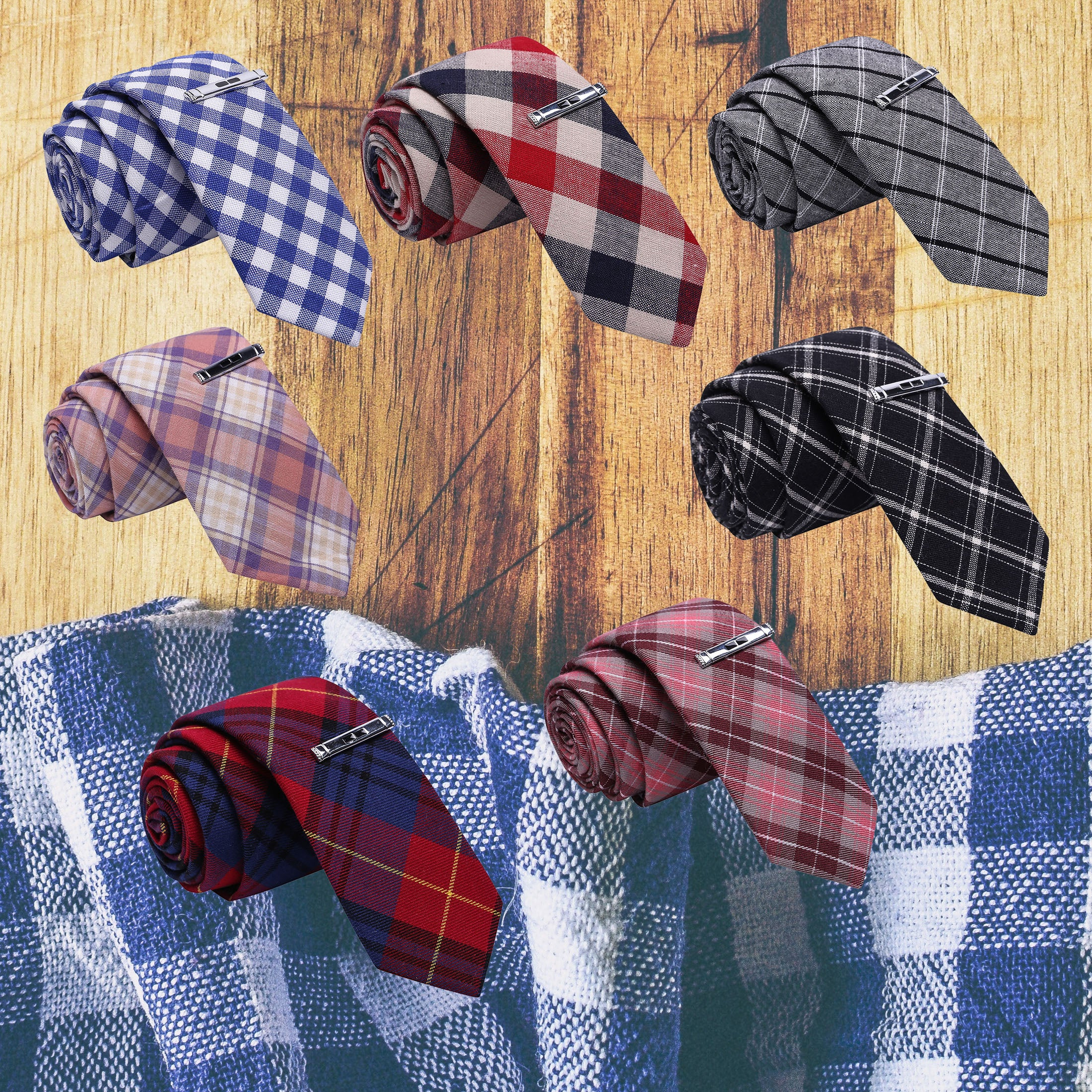 PLAID MANIA V1 (7 TIES)