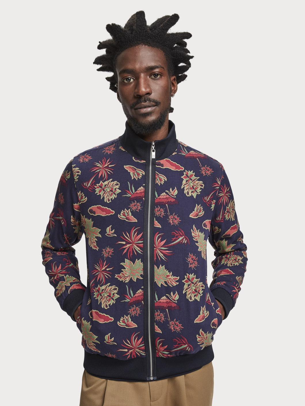 Scotch & Soda Printed Zip Jacket