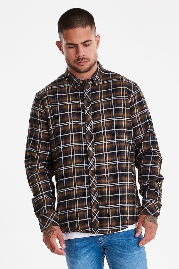 Blend Mud Brown Longsleeve Shirt