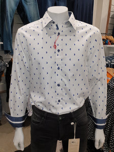 John Lennon Long Sleeve Shirt - Blue spot